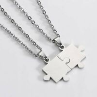 2020 Stainless Steel Puzzle Pendant Necklace Valentine's Day Gift Couple Jewelry