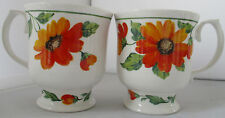 "PAIR OF ROY KIRKHAM ""BELINDA"" FINE BONE CHINA FOOTED TEA / COFFEE CUPS"