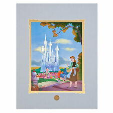 "Disney "" Cinderell's Dream Castle ""  Matted Poster  by Larry Nikolai  Brand New"
