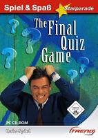 PC-Spiel + The Final Quiz Game + Allgemeinwissen + Gehirnjogging + Buchstaben