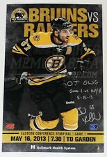 Brad Marchand Boston Bruins Signed 2013 Semifinal Inscribed Game Day Poster