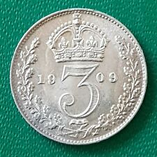 More details for 1909 threepence edward vii silver coin