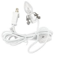 Darice type 6402 light cord butterfly clip socket switch,6' White 1 to 48 PCS