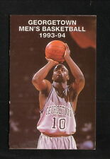 Georgetown Hoyas--1993-94 Basketball Pocket Schedule--USAir