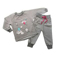 Baby Girls Tracksuit Outfit Set Jumper & Trousers 9-12/12-18 Months