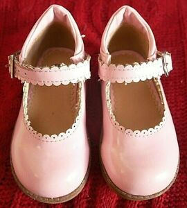 MOTHERCARE PINK PATENT MARY JANE GIRLS SHOES UK KIDS SIZE 5 EURO 21.5