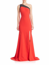 NEW THEIA Asymmetrical Crepe COLLECTION DRESS GOWN Size 4 $895 POPPY NORDSTROM