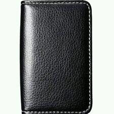 Mini Corta De Cuero de negocios de crédito tarjeta de identificación de titular de Cartera Bolsillo de almacenamiento Funda