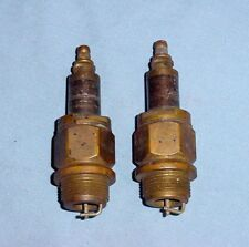 NOS Brass Sootless Vintage Antique Spark Plugs 7/8 Threads