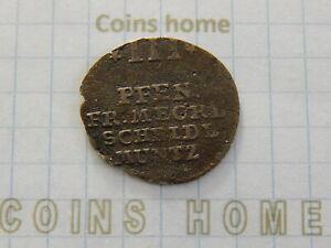 Cоins Hоme Circulated 1752 MECKLENBURG-SCHWERIN 3 pfennig KM#172 Lot#NEW37