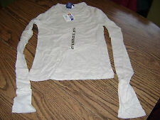 SO GSJC GIRL'S LONG SLEEVED PULL OVER SHIRT (NWT) SIZE X-SMALL SAND  STRETCH TEE