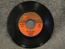 """45 RPM 7"""" Record Dean Martin Somewhere Theres A Someone & That Old Clock 0443"""
