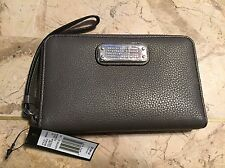 MARC BY MARC JACOBS FADED ALUMINUM ZIP AROUND WALLET WRISTLET CLUTCH MINI $148