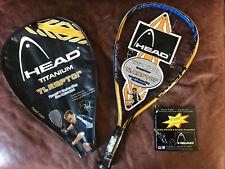 Head TI.Raptor Racquetball Racket Sudsy Monchik Titanium Technology Case 3 5/8