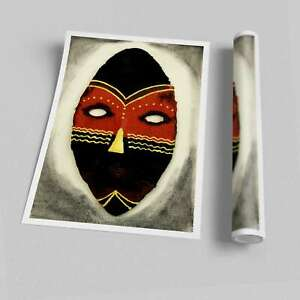 Tribal Mask Ethnic Posters 04453 Print Poster