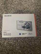 NEW in Open Box- Sony Cyber-Shot DSC-W830 20.1 MP Camera - SILVER - 027242876965