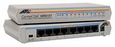 10-Pk - Allied Telesyn AT-MR815T 8 Port Mini Hub UTP 10Base-T MDI X Twisted Pair