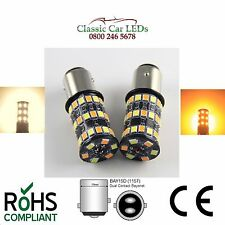 2x BAY15D SQUADRE WARM WHITE & Amber finestra laterale e indicatore LED Combinata 380