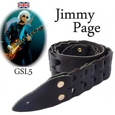 Jimmy Page GSL5 Interlocking Leather Guitar Strap