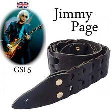 Jimmy Page GSL5 ad incastro in Pelle Tracolla chitarra