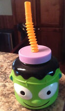 frankenstein halloween cup with lid straw fun party