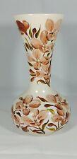 More details for rare beautiful devonmoor hand painted vase cream earthenware