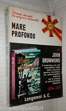 MARE PROFONDO John Drummond Longanesi 1971 Sommergibile Tedesco Seconda Guerra