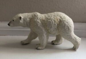 White Polar Bear Figurine Safari Ltd 2008