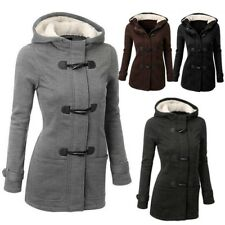 Winter Warm Women Claw Clasp Wool Blended Classic Pea Coat Jacket Plus Size 5XL