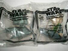 2 Nos 2008 McDonalds Happy Meal Toys Star Wars General Grievous & Boba Fett