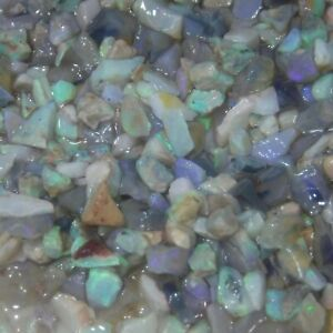 Australian opal rough SCOOP 5CTS/1GRAM LOTS BRIGHT COLOURS 4 INLAYS 7-1mm SCP25