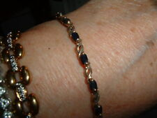 ROSS SIMONS SAPPHIRE 925 GOLD 7 INCH GENUINE BRACELET MARKED DOWN!!