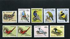 BIRDS  ,-  AUSTRALIA >>FAUNA>> 9 stamps  80/90s   MNH