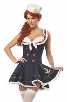 Sexy Ladies Sailor Navy Pin-Up Outfits Costume Halloween Hens Party Fancy Dress
