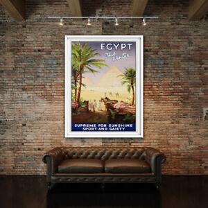 Vintage Egypt This Winter Africa Travel Advertising Print. Framed or Unframed
