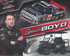 "SIGNED 2017 SPENCER BOYD ""EXCESSIVE CARTS"" #12 NASCAR CAMPING WORLD POSTCARD"