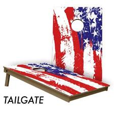 Slick Woody's Painted Flag 2' by 3' Lightweight Cornhole Board Set - USA Made!!!