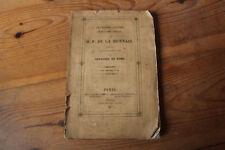 2è Lettre de l'abbé COMBALOT à M.F. de La MENNAIS (Livre contre Rome) Gaume 1837