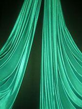 Aerial Silks Fabric/ Aerial yoga hammock by the yard TEAL GREEN