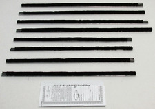 1962 - 65 Ford Fairlane 4 Dr Sedan Repops Window Felt Weatherstrip Kit 8pc