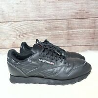Reebok Classic 059503 Athletic Casual Sneakers Men's U.S. Size 10.5 Black/Black