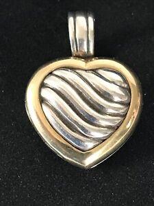 David Yurman Heart Locket Enhancer Pendant, Sterling Silver & 18K Yellow Gold