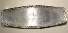 Mid Century Modern Handmade Norway Stamped Hammered Pewter Bread Tray w/Label