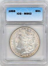 1898 $1 Morgan Silver Dollar ICG MS62
