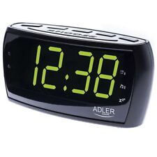 2692732-adler ad 1121 Orologio Analogico e Digitale Nero Radio
