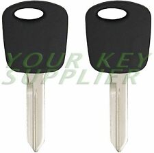 2 New Uncut Transponder Car Key Chipped Head for Ford Lincoln Mercury