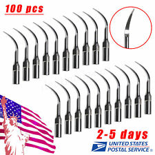 100X Dental Ultrasonic Perio Scaler Insert Perio Tips P1 fit EMS Handpiece USA#
