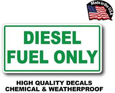 Diesel Fuel Only Vinyl Decal Sticker Label Fuel Door Label Turbo Waterproof