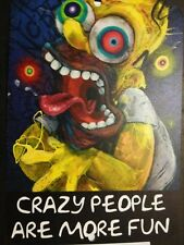 The Bam Box Simpsons Homer Simpson - Exclusive Black Ink Art Metal Sign  7X10