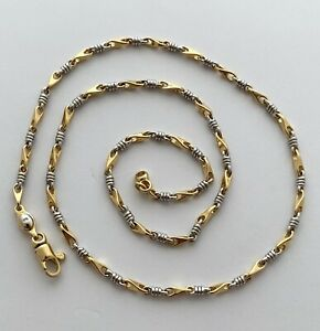 UNISEX CHAIN NECKLACE MADE IN ITALY 18K GOLD 15.4 GR, APPR. RETAIL USD $2,300.00